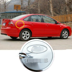 For 2005 2011 Ford Focus Fuel Gas Tank Door Cover Cap Chrome Look Trim Stainless
