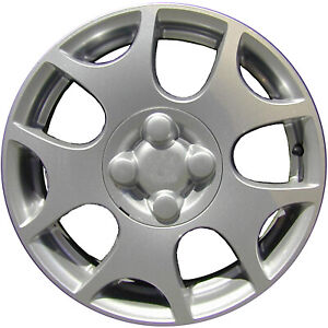 15x6 10 Slot Refurbished Saturn Aluminum Wheel Machined With Charcoal Vent 07029
