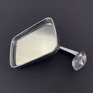 Vtg Manual Truck Car Side Mirror Drivers Left Chrome 3 25 x 5 Rectangular