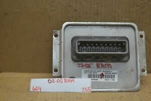 02 05 Dodge Ram 1500 Body Control Module Bcm 56051036ad Unit 255 6e4
