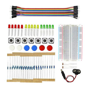Electronics Component Fun Kit Upgraded Electronic Starter Kit With Pcb Soldering