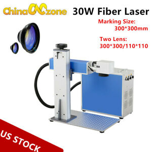 30w Fiber Laser Metal Marking Machine Engraver Engraving High Precision Portable