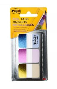 Lot Of 3 Packs Post it Tabs 1 X 1 5 Durable Foil Tabs Iridescent Colors