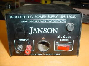 Janson Regulated Dc Power Supply Rps 1204d 4 6 Amp