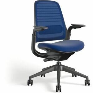 Steelcase Series 1 Office Desk Chair 3d Knit 4d Arm Rests Royal Blue