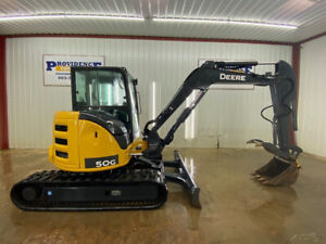 2018 John Deere 50g Cab Compact Excavator With A c And Heat