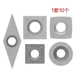 5pcs Tungsten Carbide Cutters Inserts Set For Wood Lathe Turning Tools S R8t5
