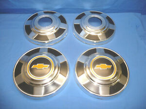 Set Of 4 1977 87 Chevy 3 4 Ton K20 Truck 4x4 12 Dog Dish Hubcaps