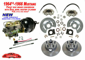 1964 66 Ford Mustang Front Drum To Power Disc Brake Conv Kit Low Profile Master