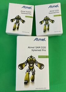 Atmel 4pc Smart Sen Eval Kit Samd20 Xplained Pro Book And Two Extension Modules