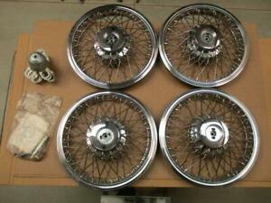 1986 96 Chevy Caprice Wire Wheel Spoke Cover Hubcaps Hub Caps 15 Set Nos