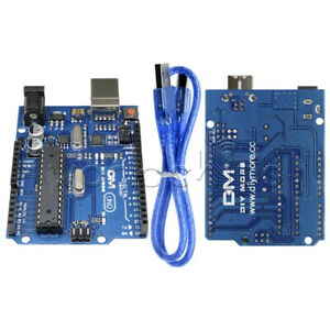 Atmega328p Atmega16u2 Uno R3 Development Board Usb Cable Kit For Arduino