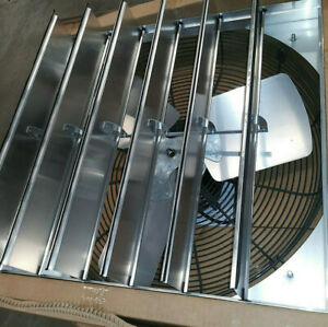 Hessaire 24sf6v240c 24in Wall mount Shutter Fan Variable Exhaust Ventilation