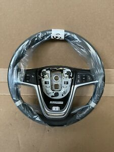 2011 2015 Chevrolet Volt Black Leather Steering Wheel Oem 22956674