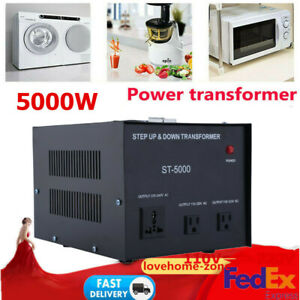 3000w 5000w Voltage Converter Transformer Heavy Duty Step Up Down 110v 220v