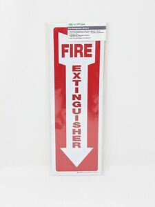 5 Pack Fire Extinguisher Stickers Decal Sign 12x4in Laminated Weather Resistant