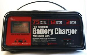 Schumacher Se 1275a 2 12 75 Amp 12 Volt Auotomatic Battery Charger Engine Start