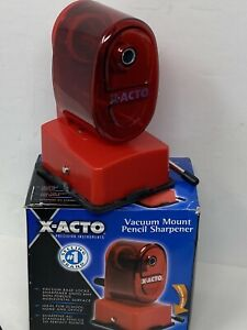 X acto Vacuum Mount Manual Pencil Sharpener Red Portable For School Office