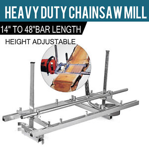 Portable Chainsaw Mill 14 48 Chain Saw Mill Aluminum Steel Planking Lumber
