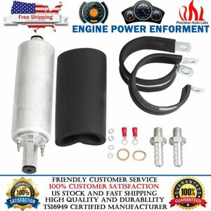 For Gsl392 Walbro Ti 255lph Inline High Pressure Fuel Pump Install Kit Universal