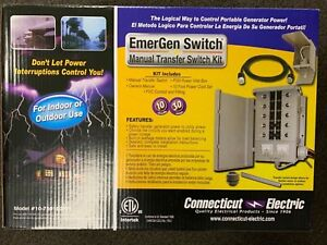 Connecticut Electric 10 7501g2kit 10 Circuit 120 240v Transfer Switch Kit new