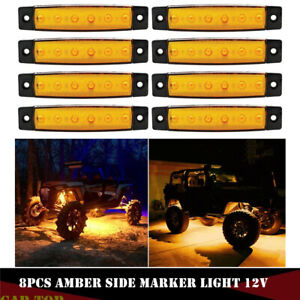 Blue Strip Led Underbody Rock Light 8 Pods For Jeep Atv Truck Underglow Lights