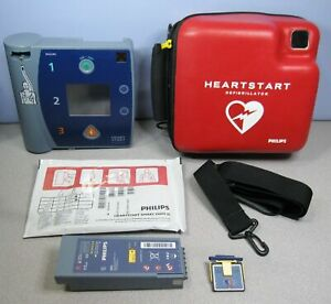 Philips Heartstart Fr2 Aed M3861a 2023 Battery Pads Carry Case Data Card G