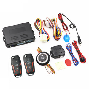 Car Keyless Entry Security Alarm System Remote Engine Starter Push Button Kit