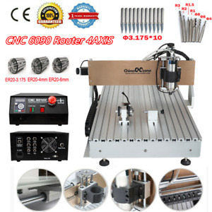 Cnc 6090 4axis 2 2kw Usb Port Milling Engraving Diy Cnc Cutting Machine Router