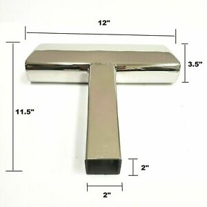 Steel Tow Hitch Step Bar Guard Chrome 12 X2 Fits 2 Receiver Truck Heavy Duty