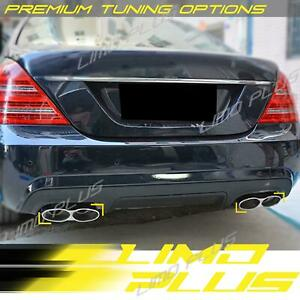 A Style Dual Muffler Pipe Exhaust Tips For Mercedes W221 S550 S63 S65 Amg 07 13