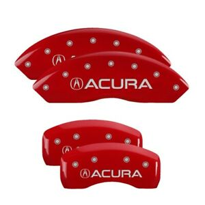 Mgp Caliper Covers Red Finish Silver Classic no Engraving