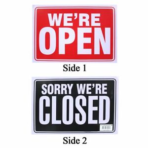 Open closed 2 sided 9 x12 Sign Pack Of 4