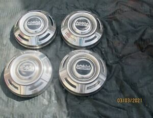 Rare 1967 1972 Ford F250 Stainless Dogdish Poverty Hubcaps 12 Nice Used Se T4