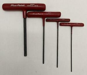 Blue Point Metric 4pc T handle Allen Wrench Hex Key Set he2031281