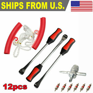 12pcs Tire Lever Tool Spoon Motorcycle Tire Change Kit Bicycle Dirt Bike Touring