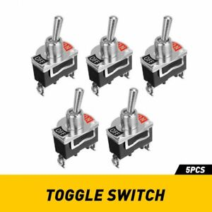 5x 12v Spst Solid Metal Toggle Switch On off Single Pole For Marine Automotive