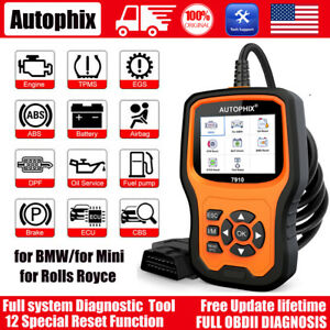 Autophix 7910 For Bmw All System Obd2 Diagnostic Scanner Abs Srs Epb Tpms Oil