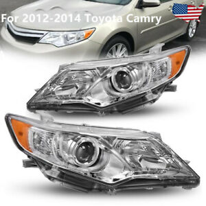 For 2012 2014 Toyota Camry Projector Headlights Headlamps Replacement Left right
