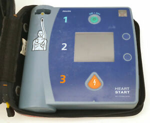 Philips Heartstart Fr2 Aed M3861a No Battery Or Pads Carry Case Data Card B