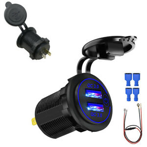 Car Cigarette Lighter Socket Outlet Charger Power Adapter Plug With Touch Switch