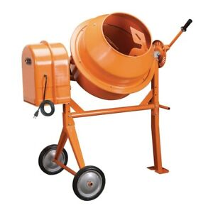 Portable Cement Mixer 3 1 2 Cubic Ft Electric Power For Mixing Stucco Concrete