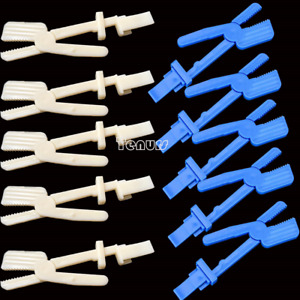 5pcs X ray Film Radiograph Holder Clip Supply For Dental Plastic Snap Clamp