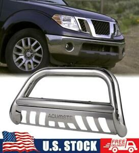 For 05 16 Nissan Frontier P Athfinder Chrome Bull Bar Push Bumper Grille Guard