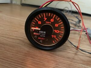 Hks 60mm Exhaust Temp Gauge Rare For Nismo Defi Greddy Jdm Dash Meter R32 R33