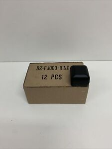 Ring Gift Box Black Faux Leather Wht Velvet Jewelry Present 2 25 x2 Case Of 12