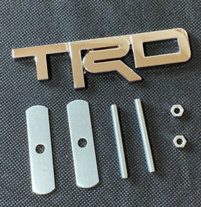 Trd Chrome Front Hood Bonnet Grille Emblem Badge Decal For Corolla Camry Yaris