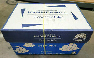 new Hammermill Copy Plus 8 5 X 11 Copy Paper 20 Lbs 10 Rims 5000 Sheets