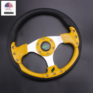 Steering Wheel 12 Inch 315mm Universal Drifting Racing Sport Lightweight Gold Us