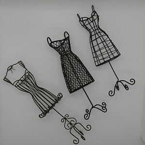 3x Metal Dress Form Mannequin Body Boutique Display Stand Sewing Photo Prop Vtg